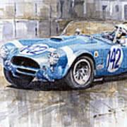 Phil Hill Ac Cobra-ford Targa Florio 1964 Poster