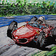 Phil Hill At Nurburgring. Poster