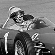 Phil Hill Ferrari Close Up Poster