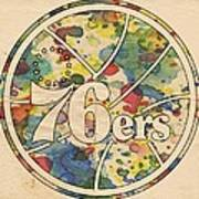 Philadelphia 76ers Retro Poster Poster