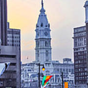 Philadelphia Cityhall In The Morning Poster