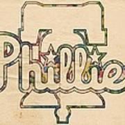 Philadelphia Phillies Logo Art Poster