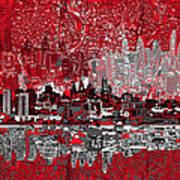 Philadelphia Skyline Abstract 4 Poster by Bekim Art