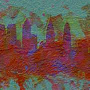 Philadelphia Skyline Brick Wall Mural Poster