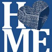 Philadelphia Street Map Home Heart - Philadelphia Pennsylvania R Poster
