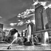 Philadelphia-swan Fountain Poster