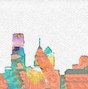 Philadelphia Watercolor Cityscape Poster