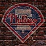 Phillies Baseball Graffiti On Brick  Poster by Movie Poster Prints
