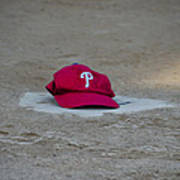 Phillies Hat On Home Plate Poster