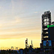 Phillies Stadium At Dawn Poster