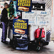 Philly Cheese Steak Cart Poster