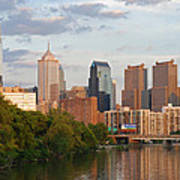 Philly Summer Skyline Poster