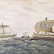 Phoenician And Assyrian Battle Ships Poster by Everett