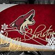 Phoenix Coyotes Christmas Poster