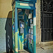 Phone Booth In Blues - Oporto Poster