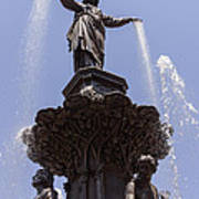 Photo Of Tyler Davidson Fountain In Cincinnati Ohio Poster
