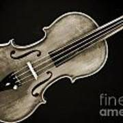 Photograph Of A Complete Viola Violin In Sepia 3370.01 Poster