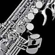 Photograph Of A Soprano Saxophone Sepia 3355.01 Poster
