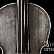Photograph Or Picture Violin Viola Body In Sepia 3367.01 Poster