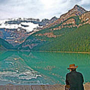 Photographers At Lake Louise In Banff National Park-ab Poster