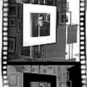 Photographic Artwork Of Woody Allen In A Window Display Poster