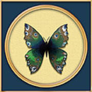 Phthalo Butterfly Poster