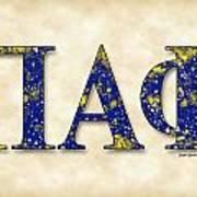 Pi Alpha Phi - Parchment Poster