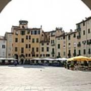 Piazza Del Mercato Lucca Poster