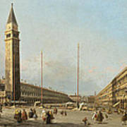 Piazza San Marco Looking South And West Poster