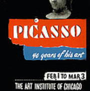 Picasso 40 Years Of His Art  Poster
