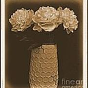 Picture Of Antique Peony Bouquet Poster