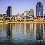 Picture Of Cincinnati Skyline And Ohio River Poster