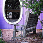 Picture Perfect Garden Bench Poster