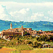Pienza Italy Poster