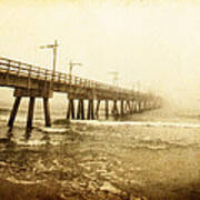 Pier In A Storm Poster