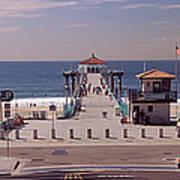 Pier Over An Ocean, Manhattan Beach Poster