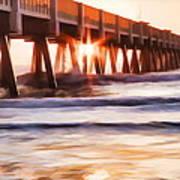 Pier Sunrise Too Poster