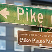 Pike Place Market Sign Poster