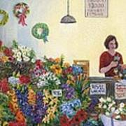 Pikes' Flower Market Poster