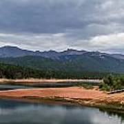 Pikes Peak From Crystal Creek Reservoir  Poster