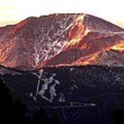 Pikes Peak Sunrise Close-up Poster