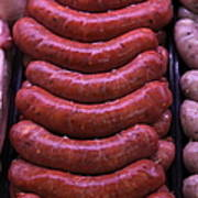 Pile Of Sausages - 5d20694 Poster by Wingsdomain Art and Photography