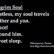 Pilgrim Soul Poster by Ann Kipp