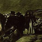 Pilgrimage To San Isidros Fountain, C.18213 Oil On Canvas Poster