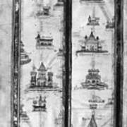 Pilgrims' Map, C1250 Poster