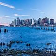 Pilings On Boston Harbor Poster