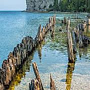 Pilings On Lake Michigan Poster