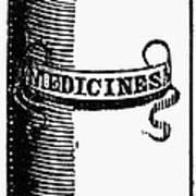 Pill Bottle, 19th Century Poster