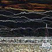 Pillar Point Harbor Below Half Moon Bay Hills Poster