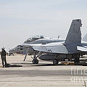Pilots Wait To Board Their Fa-18b Poster